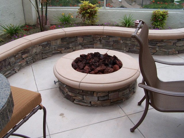 Fire Pits and Walls traditional-patio