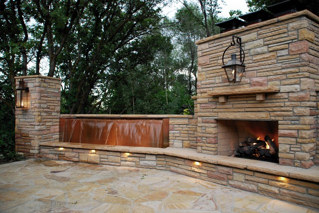 Fire, Water, Lighting & Copper traditional-patio