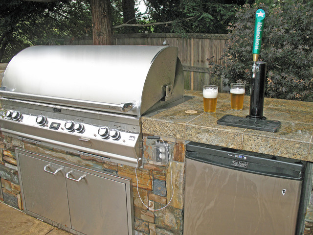 Firemagic BBQ and Kegerator - Rustic - Patio - San Francisco - by ...