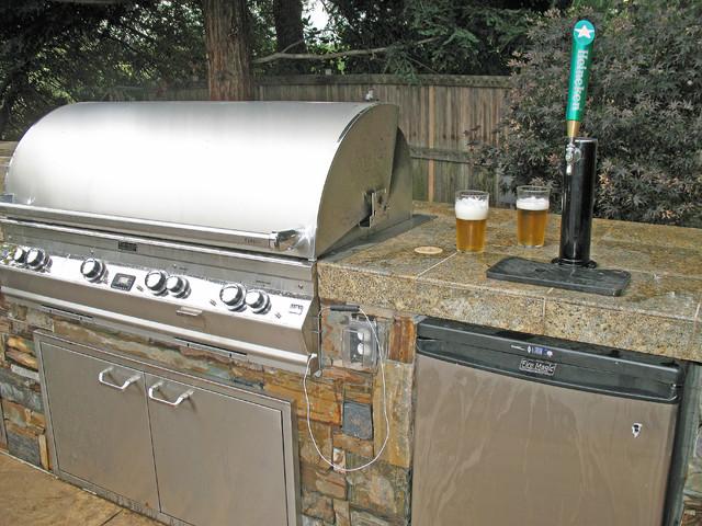 Kitchen Island Kegerator firemagic bbq and kegerator - rustic - patio - san francisco -