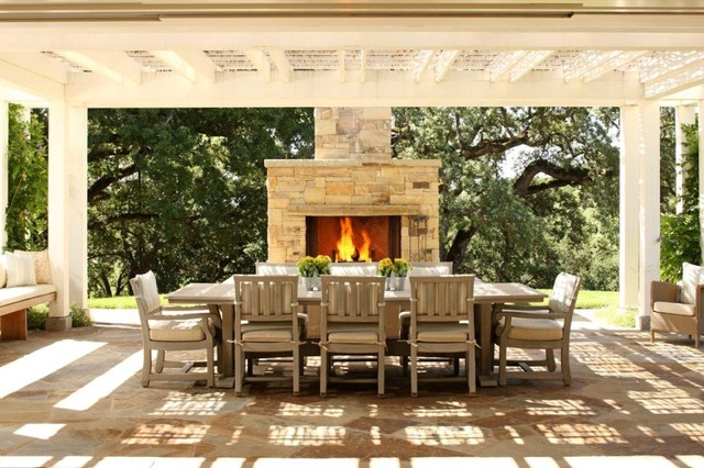Firepits and Fireplaces traditional-patio