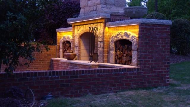 Fireplace Lighting traditional-patio