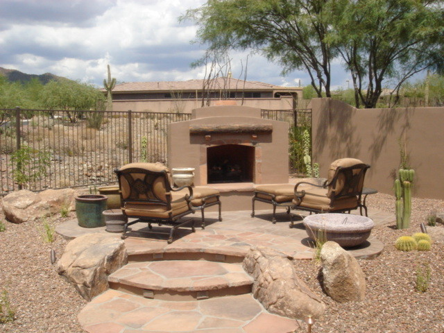 Fireplace Magic Southwestern Patio Other Metro By