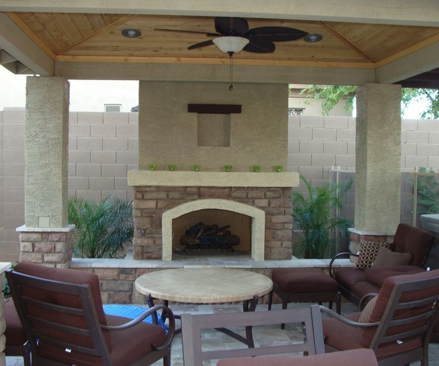 Fireplace Magic Southwestern Patio Other By One