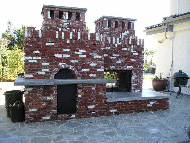 FireplacePizza Oven Traditional Patio Los Angeles