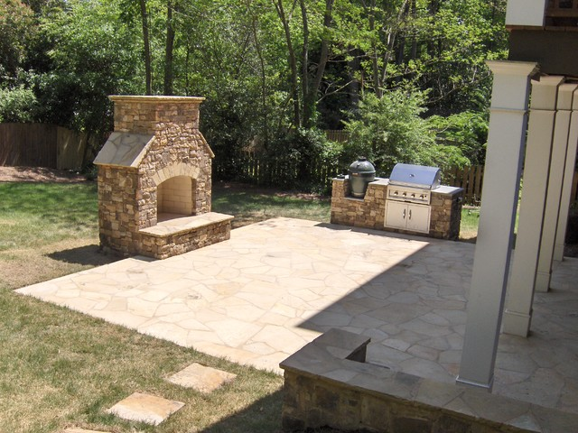 Fireplaces And Fire Pits Traditional Patio Atlanta