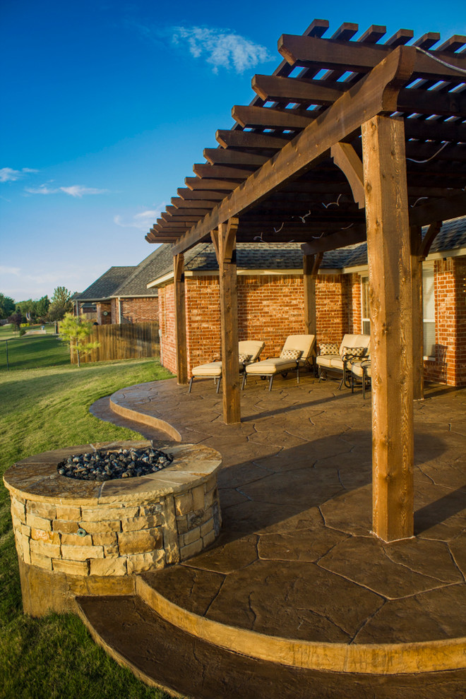 Fireplaces Fire Pits Curved Patio With Fire Pit Craftsman