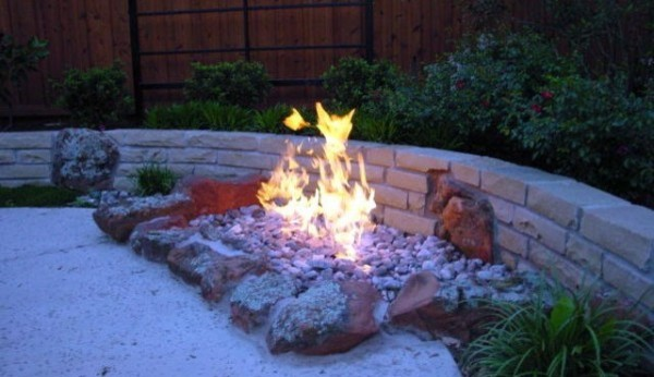 Fireplaces Fire Pits Inground Gravel Fire Pit Patio Oklahoma City By Red Valley