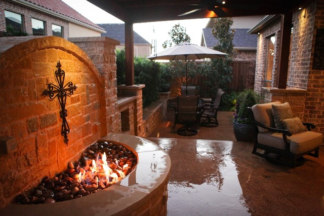 Fireplaces Fire Pits Stonewall Fire Pit Craftsman Patio Oklahoma City By Red Valley