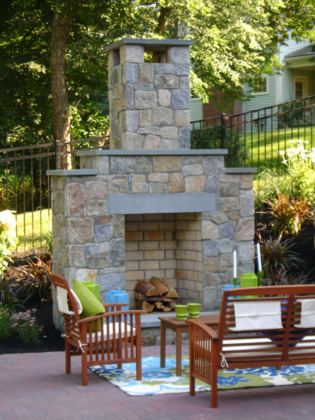 Fireplaces and Kitchen Accents traditional-patio