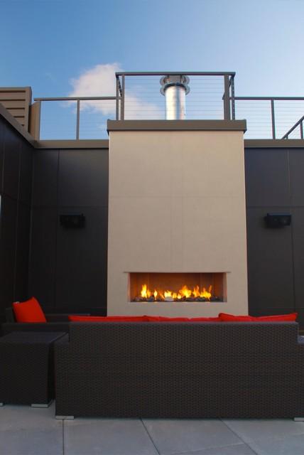 Fireplaces contemporary-patio