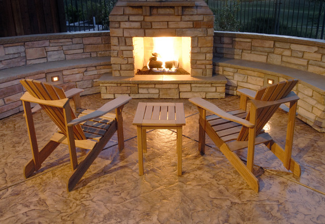 Fireplaces traditional patio
