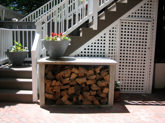 Firewood Storage - Eclectic - Patio - dc metro - by Arbor ...