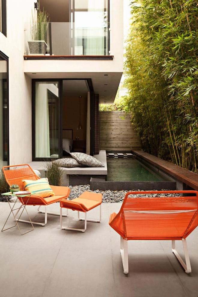 Trendy concrete patio photo in Los Angeles