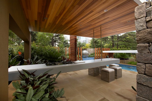 Floating Layers Contemporary Patio Melbourne By