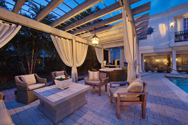 Inspiration For A Mediterranean Patio Remodel In Tampa With A Gazebo