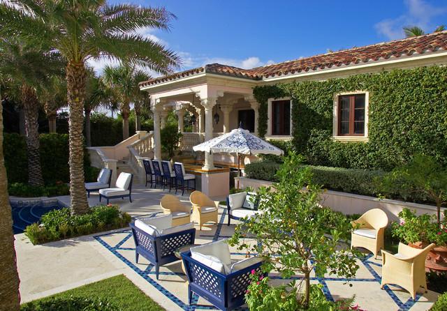 Florida Mediterranean Revival Seaside Villa mediterranean-patio