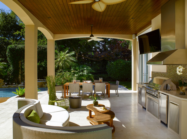 Lovely Florida Vernacular (Key West Style) Home Contemporary Patio