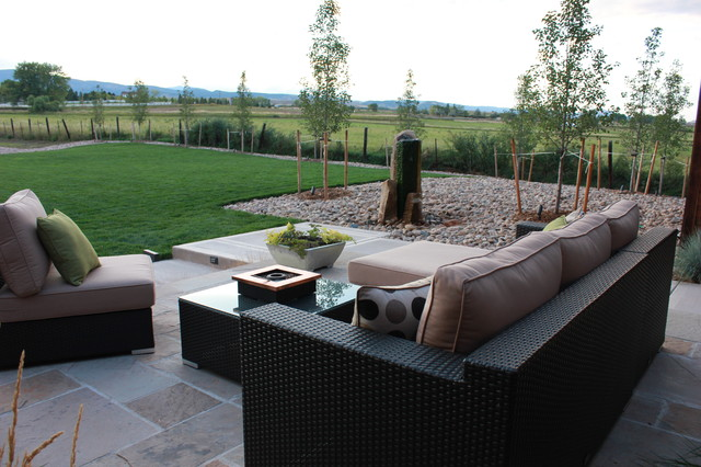 Foothills Residence - Terrace contemporary-patio