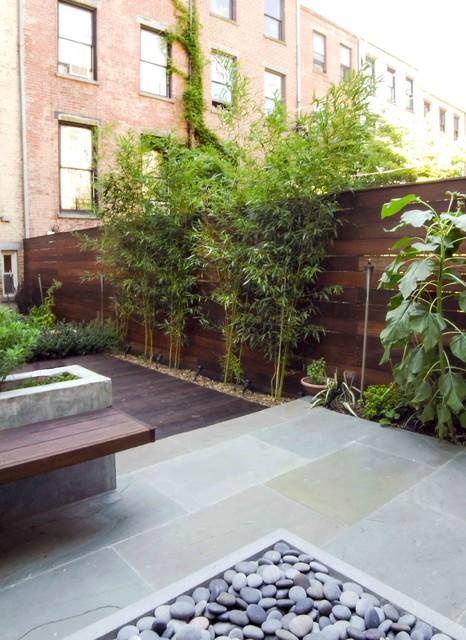 Fort Greene Modern Garden modern-patio