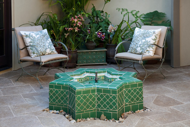 Fountains and Water Elements - Mediterranean - Patio - Santa Barbara ...