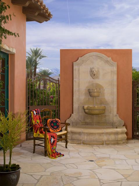 Fountains mediterranean-patio