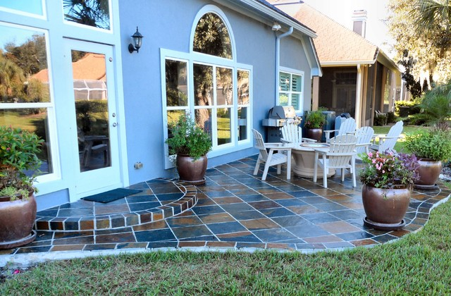 free form flagstone patio traditional jacksonville