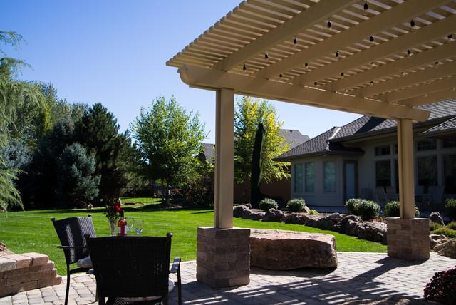 Freestanding Pergola Midcentury Patio Boise By