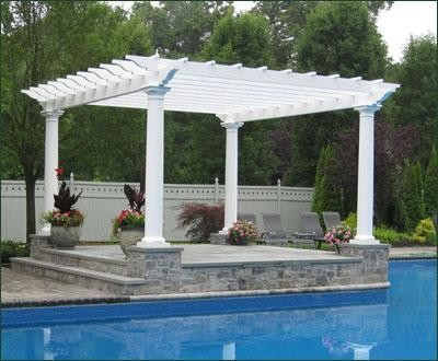 freestanding pergola mediterranean patio other metro. Black Bedroom Furniture Sets. Home Design Ideas