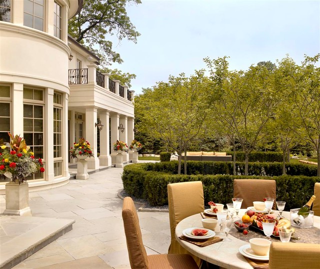 French Chateau traditional-patio