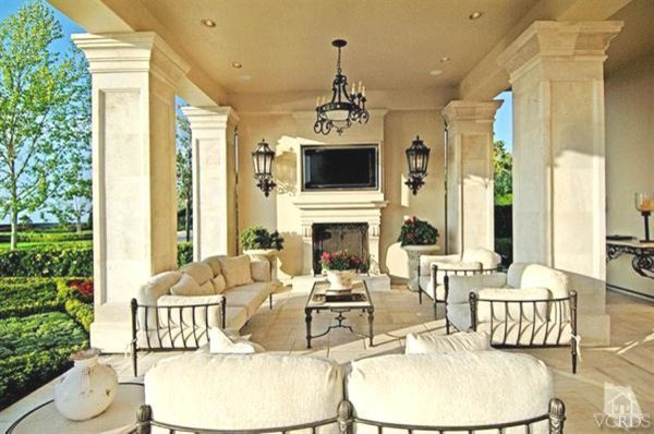 French Chateau Traditional Patio Los Angeles By Roy Sklarin Interiors