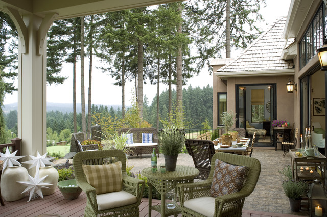 French Country Elegance - Traditional - Patio - portland ...