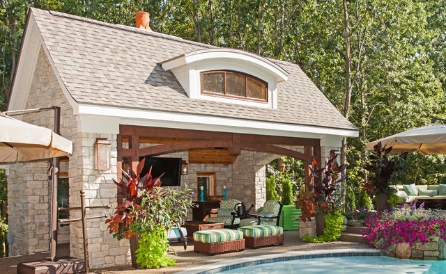 French Country European Style Home Traditional Patio
