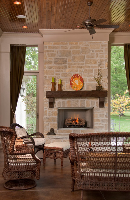 French Country Home traditional-patio