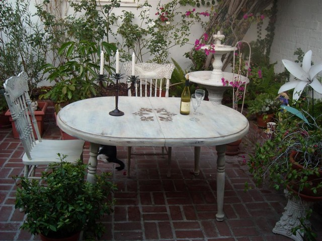 French Country Style Refinished Furniture Eclectic Patio