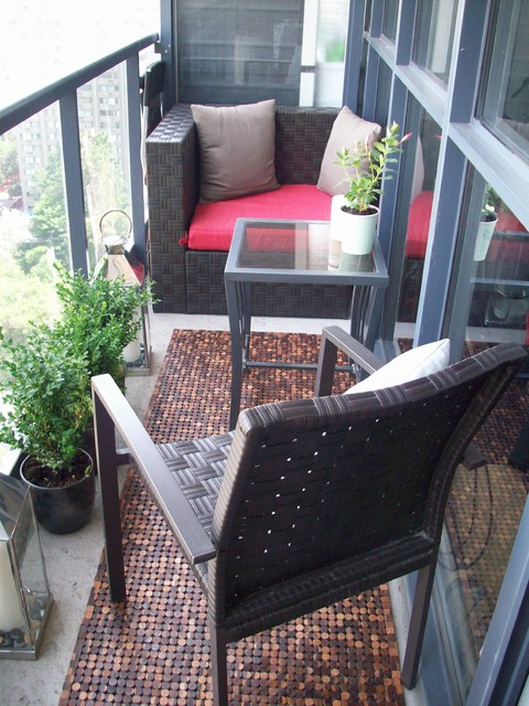 Attractive Fresh Urban Condo Design Patio
