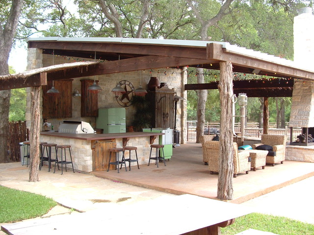 Frisco Cabana Rustic Patio Dallas By Key Residential