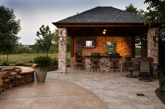 Frisco TX New Orleans Style Outdoor Kitchen & Cabana