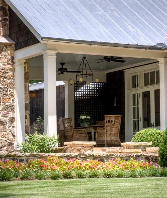 From Pre-Fab to Farmhouse - Farmhouse - Patio - atlanta ... on Farmhouse Outdoor Living Space id=55281
