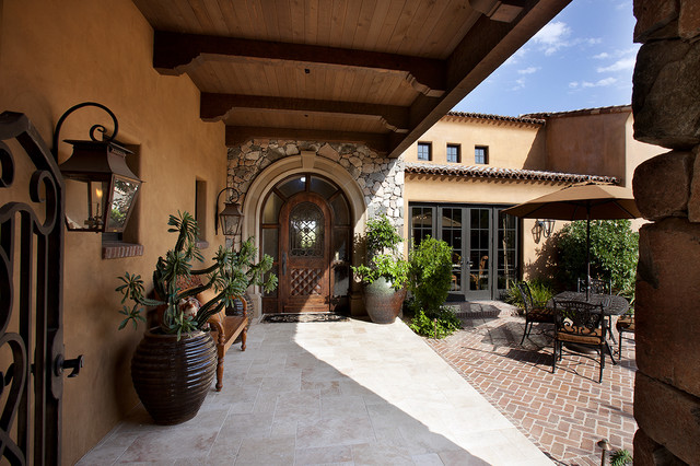 Front Entry Courtyard Mediterranean Patio Other
