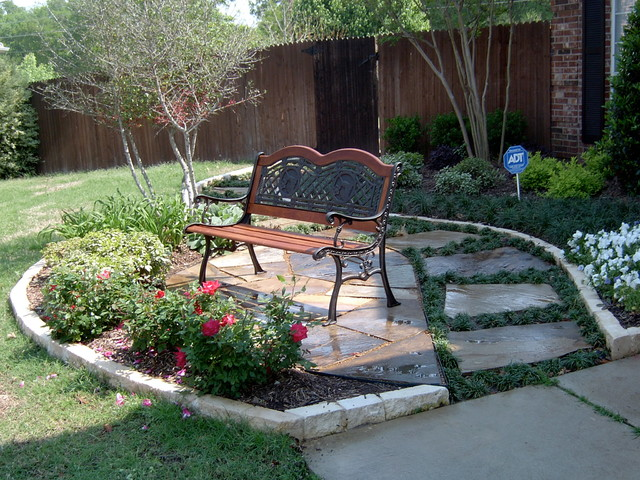 front yard landscape ideas traditional patio dallas by green