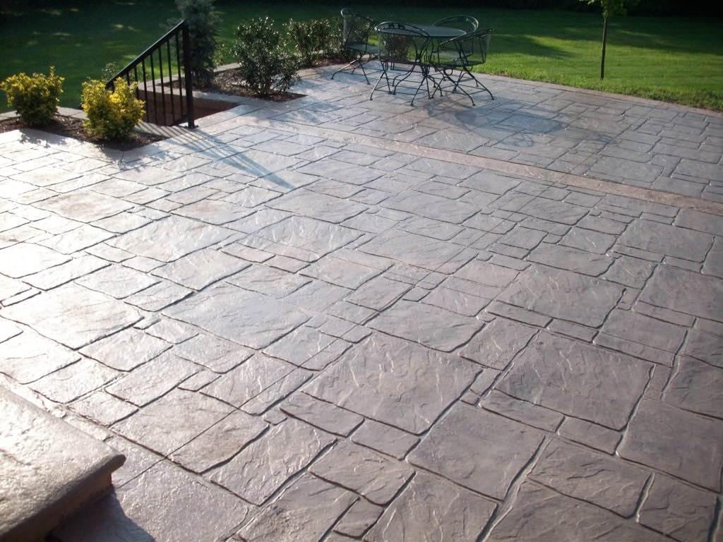 Frontenac, Missouri multi-pattern stamped concrete patio photo 1