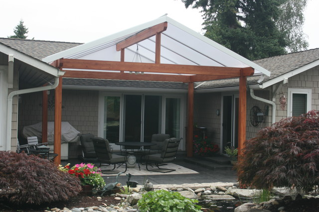 Gabled Roof Style - Traditional - Patio - Other - by Acrylic Patio Covers