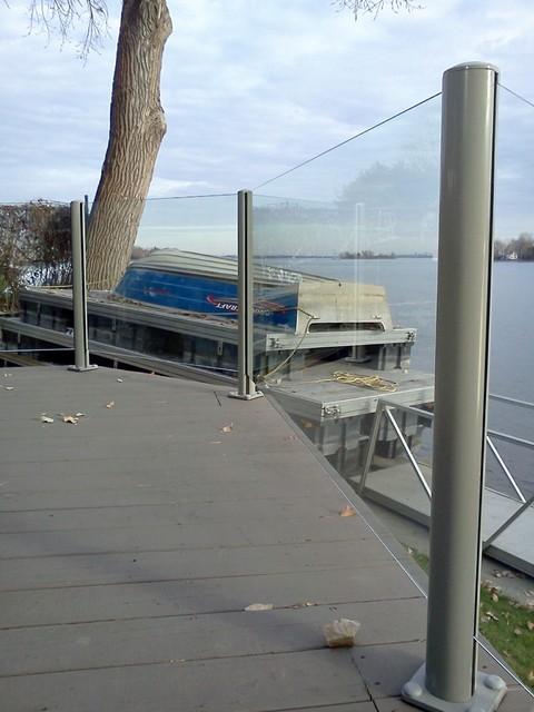 Garde corps en verre poteaux en aluminium modern patio montreal by v - Garde corps alu en kit ...