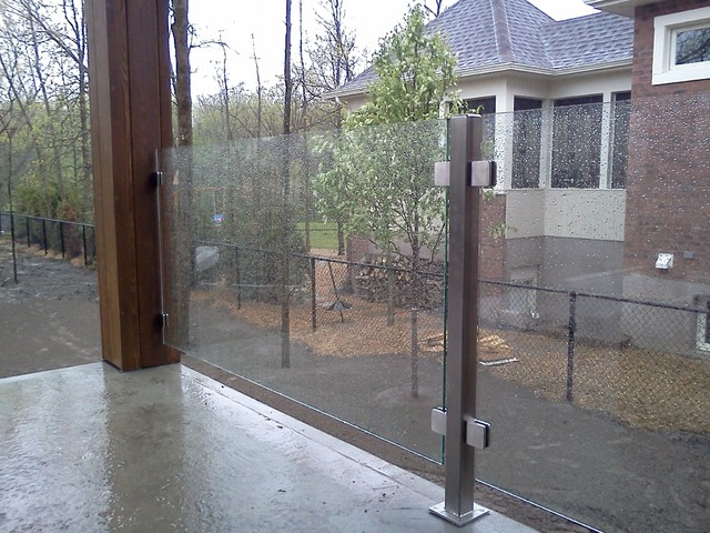 Garde Corps Exterieur Stainless Et Verre Modern Patio Montreal