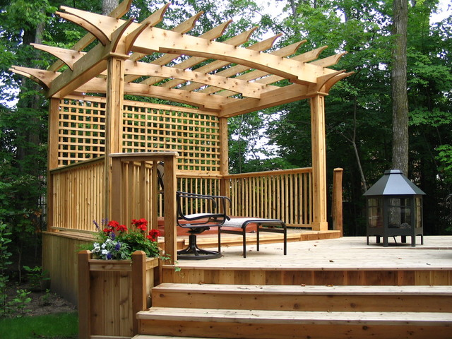 Garden decks patio toronto by jws woodworking and for Images of garden decking