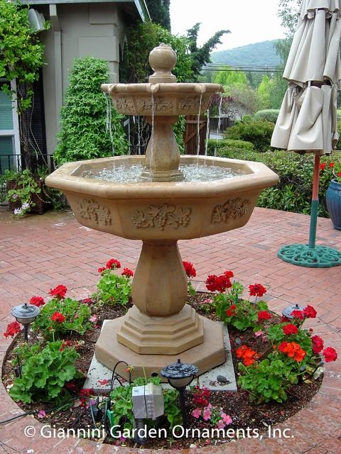Garden Fountains Mediterranean Patio San Francisco