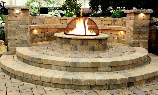 Salt Lamp Fire Pit : Gas Fire Pits - Traditional - Patio - salt lake city - by Decorative Landscaping