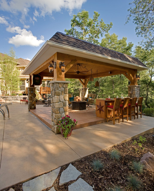 Gazebo with Character - Traditional - Patio - Minneapolis ...