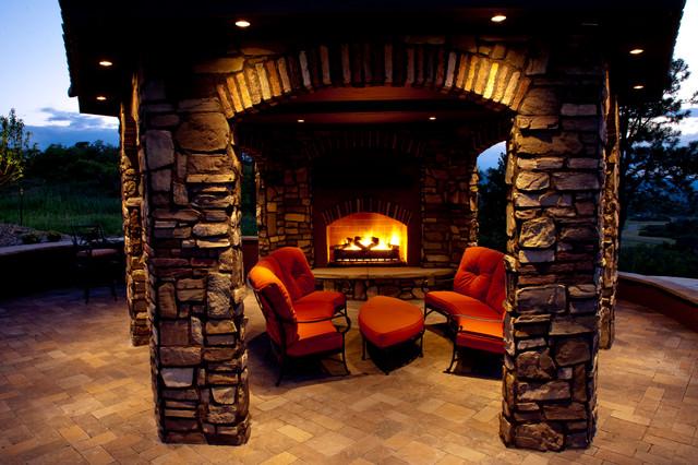 Gazebo with fireplace for Gazebo with fireplace
